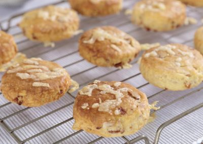 Katarina's #AddApplewood Bacon Biscuits (Mini Scones)
